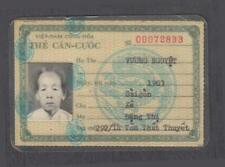 Vietnam War Era RVN Female Civilian ID Issued 1969
