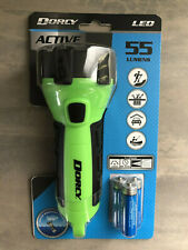 New Dorcy Brand 55 Lumens Green Waterproof Floating LED Torch With Batteries