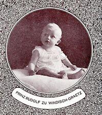 Prinz Rudolf zu Windisch-Graetz Historische Memorabile K.K.Monarchie 1908