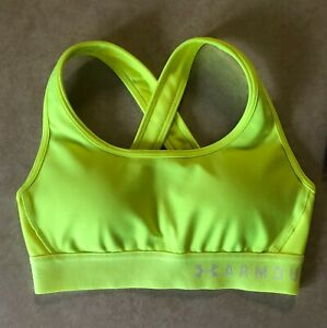 NWT Under Armour Women's Crossback Mid-Impact Sports Bra Size X-Small