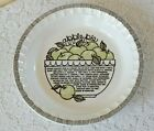 Vintage 1980's Royal China by Jeannette  Apple Pie Recipe Ceramic Dish