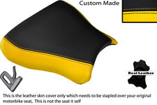 BLACK & YELLOW CUSTOM FITS SUZUKI GSXR 600 750 SRAD 96-00 FRONT SEAT COVER