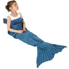 Mermaid Tail Sofa Blanket Super Soft Warm Hand Crocheted Knitting Wool Adult kid