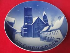 1943 BING GRONDAHL COPENHAGEN PLATE CATHEDRAL RIBE