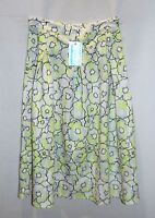 VALLEYGIRL Brand Yellow Floral Pleated Midi Skirt Size M BNWT #SU21