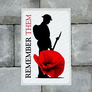 Lest We Forget - Remembrance Day Sticker Poppys - Wall Or Window Sticker - F