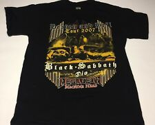 Black Sabbath 2007 Dio 'Heaven and Hell' Tour T-Shirt men's size-M Med Megadeth