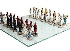 World War 2 Themed Battle of Pearl Harbor Chess Set US vs Japan Figurine Decor