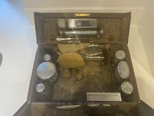 Antique/Vintage Edwardian Solid Silver Leather Vanity Travel Case, Asprey London