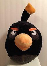 "ROVIO 2012 ANGRY BIRD BLACK 14"" PLUSH BACKPACK PILLOW"