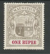 MAURITIUS SG153 THE 1902 1r GREY BLACK AND CARMINE FRESH MOUNTED MINT CAT £65