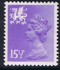 GB QEII MNH STAMP Wales SG W42 15 1/2p Pale Violet Regional Machin Definitive.