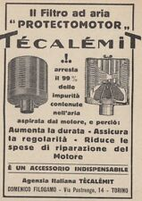 Z3596 Filtro per aria Protectmotor Técalémit - Pubblicità d'epoca - 1927 old ad