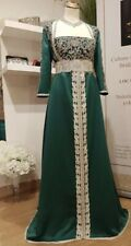 Moroccan Caftan Kaftan Takchita Size S TGB-2262-226-1 Green And Silver  Anaya