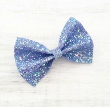 Sirène bleu/lilas brillant glitter hair bow-kawaii
