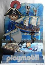 PLAYMOBIL PIRATES SHOP DISPLAY STAND USED HARD PAPER VINTAGE LATE 80's Unique