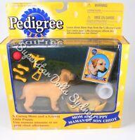 1998 Pedigree Labrador Retriever Mom & Puppy Figurine Gift Pack for Barbie Dolls