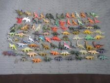 """95 Toy Hard & soft Rubber Dinosaur Lot:small mini size 2"""" to 3""""tall great detail"""