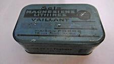 ancienne boite metal pharmacie sels magnesiens de vaillant