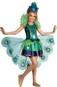 Peacock Tutu Costume Dress Child Girls Deluxe - S 4-6 M 8-10 L 12-14 - Fast Ship