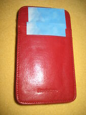 Brookstone Red Leather Business Card Holder