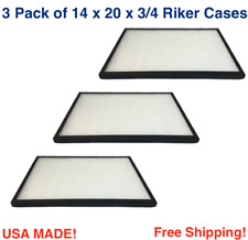 3 Pack Of 14 X 20 X 34 Riker Display Cases Boxes For Collectibles Arrowheads