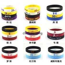 Silicone Rubber Elasticity Wristband Wrist Band Cuff Bracelet Bangle Sport Run
