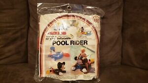 """Vintage Inflatable 1983 Intex Wet Set Mickey Mouse Pool Rider Ride On 42"""" x 29"""""""