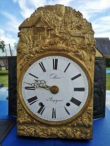 GRAND ANCIEN MOUVEMENT 31,7CM HORLOGE COMTOISE OROLOGIO OLD CLOCK UHR RELOJ