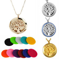 Stainless Steel Aromatherapy Essential Oil Diffuser Perfume Locket Necklace New