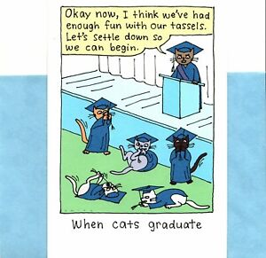 Funny Congratulations Graduation Cats Playing With Tassels Theme Hallmark Card
