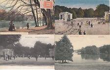 Lot 4 cartes postales anciennes BELGIQUE BRUXELLES bois de la cambre
