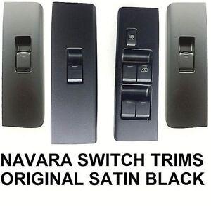 NISSAN NAVARA D40 / R51 (2004-2014) 4 DOOR WINDOW SWITCH WRAP SET - SATIN BLACK