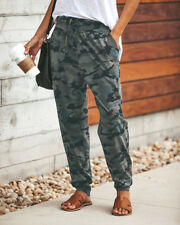 US Womens Camo Cargo Trousers Casual Pants Military Army Combat Camouflage Pant