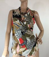 🌻 JANE LAMERTON SIZE 12 FIXED WRAP FLORAL TOP NWT RRP $79.95