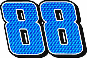 NEW FOR 2016!! #88 Dale Earnhardt Jr Racing Sticker Decal Sm-XXLarge - BLUE
