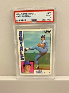 1984 TOPPS TRADED #49 - MARK GUBICZA - RC - PSA MINT 9