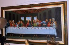dipinto l'ultima cena firmato pitti cm 120 x 60