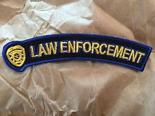 Police Badge Law Enforcement Small Rocker Patch