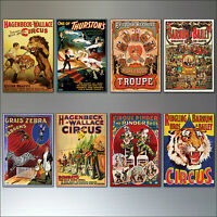 Vintage Circus and Performance posters fridge magnets set of 8 fridge magnets