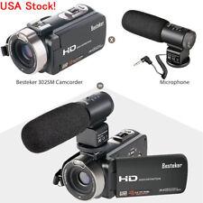 USA Besteker HD 1080P 24MP 16X Digital Zoom Video Camcorder Camera DV&Microphone