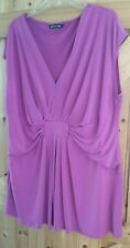 """Lovely Formal / Party Top Size 28 By M&Co In Mid To  Dark Pink Cerise  Chest 54"""""""