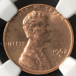 1962-D 1C Lincoln Memorial One Cent  NGC UNC DETAILS      3583074-032