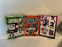 L👀k! LOT 2019-20 Panini Contenders Football Draft Picks(3) Blaster, Autos?Memo?