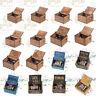Retro Holz Spieluhr Music Box Handarbeit Graviert Spielzeug Kinder Geschenk