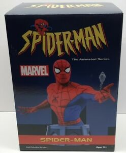 Spider-Man Animated Series Diamond Select Marvel 1/7 Scale Bust #/3000 New