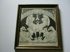 VINTAGE SAN DIEGO MUSIC ART  STORE MISSION MINSTREL INK DRAWING ORIGINAL NUDES
