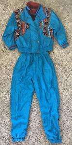 Vintage 80s/90s Lavon Petites Tracksuit Windbreaker Set Jogging Wind Suit PL
