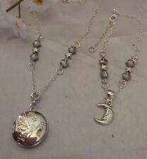 Fairy Locket /sterling Silver *chain+moon Bracelet/ina Box