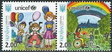 Ukraine - Kindertag Satz Paar postfrisch 2013 Mi. 1336-1337